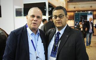 Owner & Founder of Facets Singapore Suresh Hathiramani with an old friend | Facets Singapore