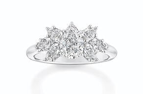 Cluster Engagement Ring by Harry Winston | Facets Singapore