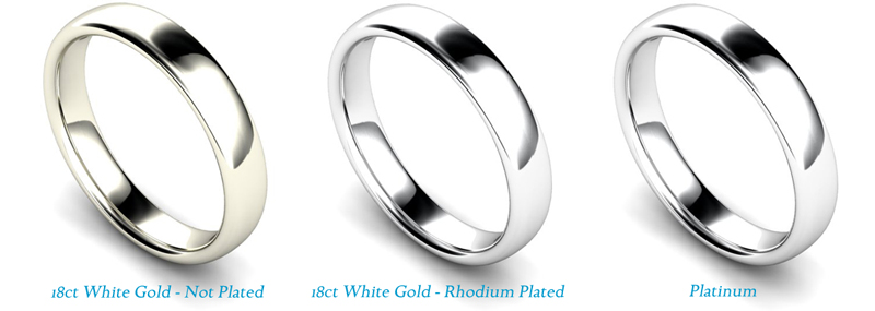 Yellow-gold white-gold and platinum wedding bands | Facets Singapore
