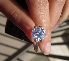 Very strong blue diamond viewed in daylight | Facets Singapore