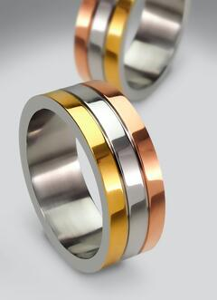 Rings with yellow-gold white-gold and rose-gold | Facets Singapore