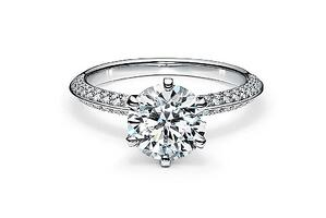 Pave Engagement Ring by Tiffany | Facets Singapore