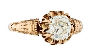 Victorian Engagement Ring from GIA.com | Facets Singapore